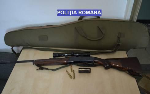 Armă de vânătoare ridicată de polițiști