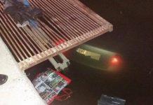 Un tânăr de 20 de ani a căzut cu mașina în canalul de la Stația de Epurare