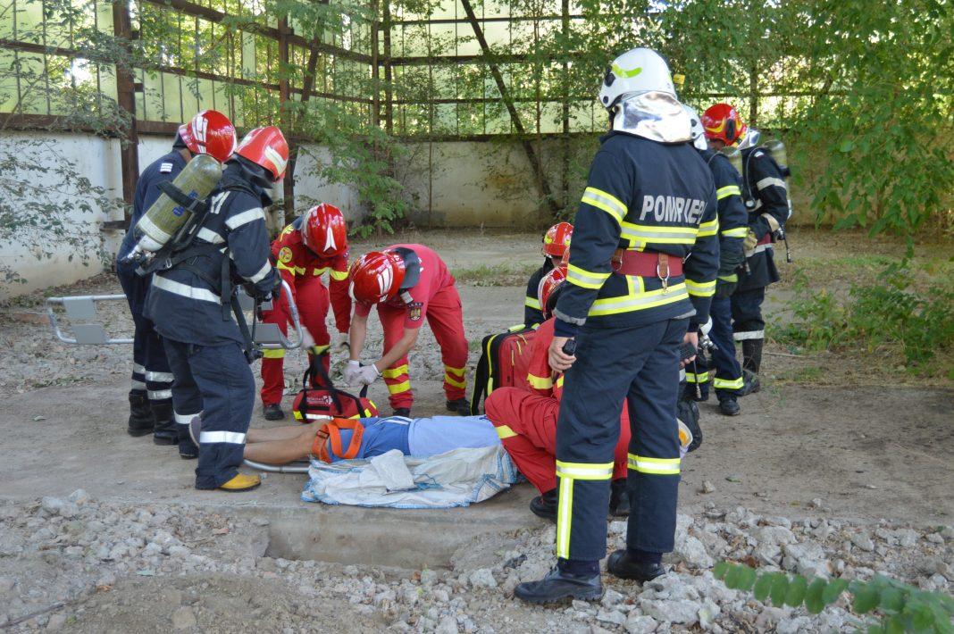 Exercițiu în teren al ISU Dunărea Brăila