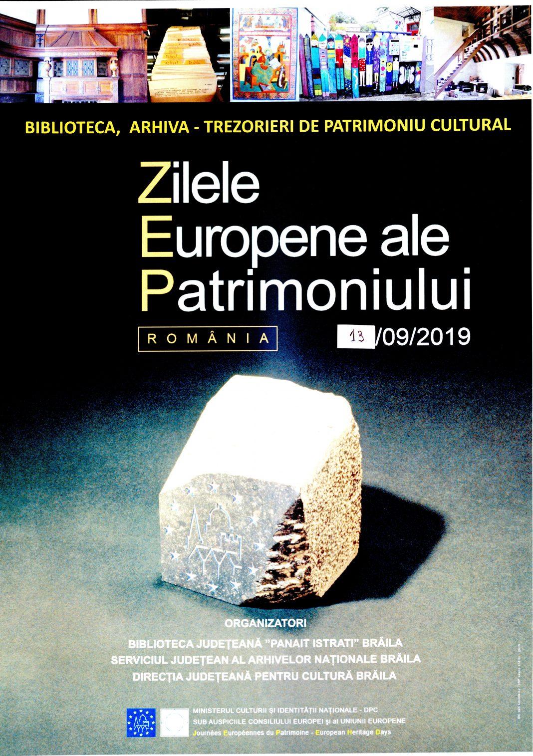 Expoziție dedicată Zilelor Europene ale Patrimoniului la Bibliotecă