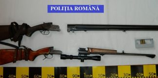Arme de vânătoare reținute de polițiști